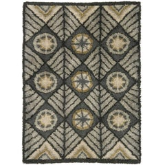 Mid 20th Century Swedish Rya Carpet