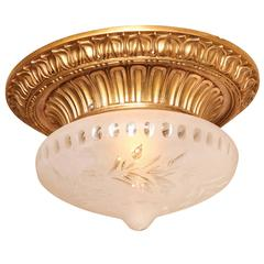 A Bronze Flush Mounted Ceiling Light by E.F Caldwell