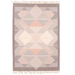 20th Century Swedish Flat-Weave Carpet by Anna Johanna Angstrom