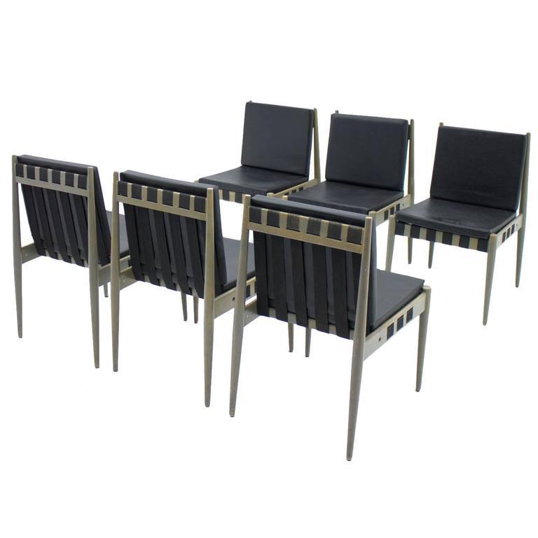 Set of six architect chairs by egon eiermann se