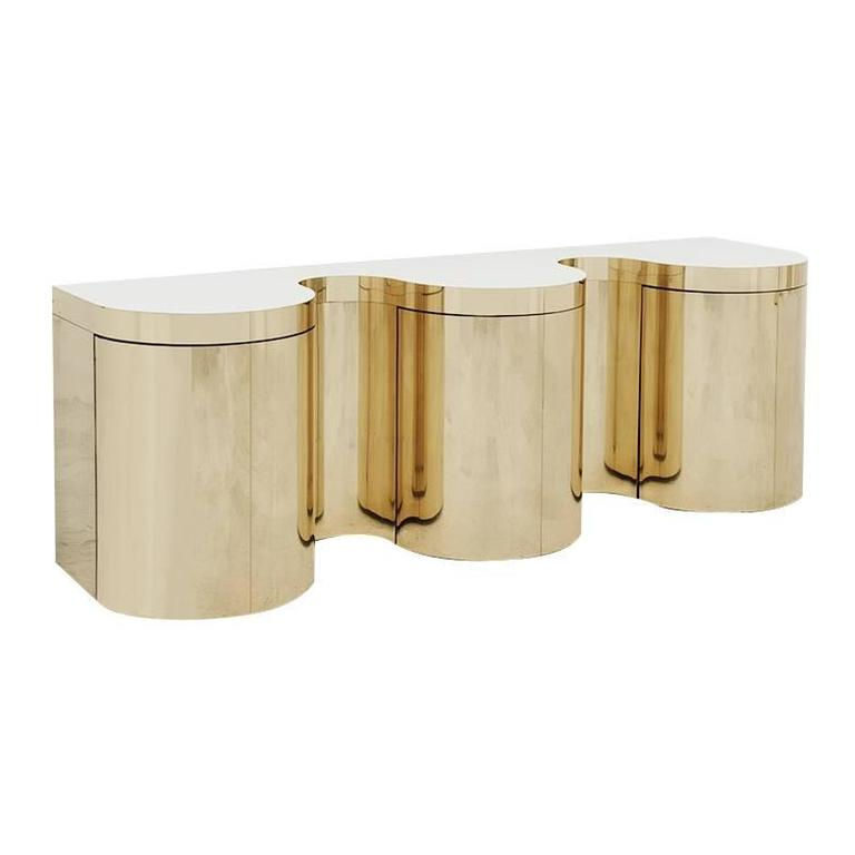 Paul Evans, Cylindrical Console, USA, circa 1980 For Sale