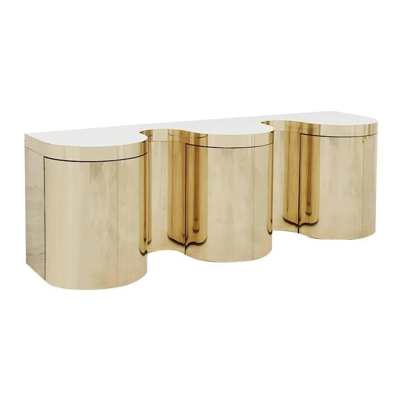 1st Dibs 1st dibs 10 Incredible Modern Console Tables on 1st Dibs PAUL EVANS GOLD WAVE CONSOL 160309 CSG TODD MERRILL 0927 V1 web org z