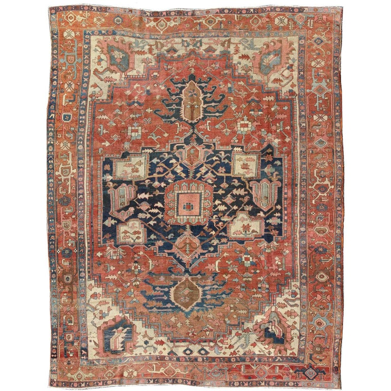 Antique Persian Serapi Rug For Sale At 1stdibs