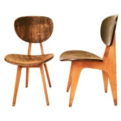 Pair of Original 1960 Chairs by Daisaku Choh, Japan