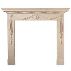 Antique Portland Limestone Fireplace