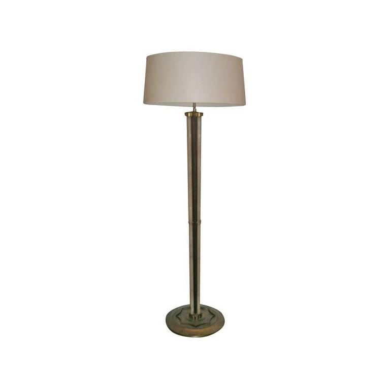Shagreen, Rosewood and Gilt Metal, Art Deco Floor Lamp For Sale