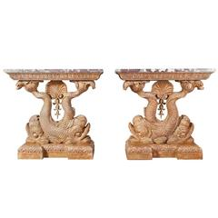 William Kent Style Giltwood Side Tables