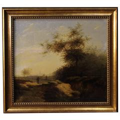 19th Century Oil on Panel Made by Oak