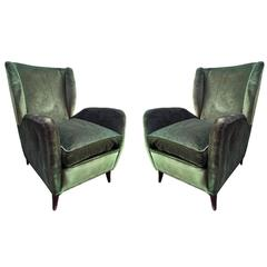 Rare Pair of Armchairs, Design Gio Ponti in 1948