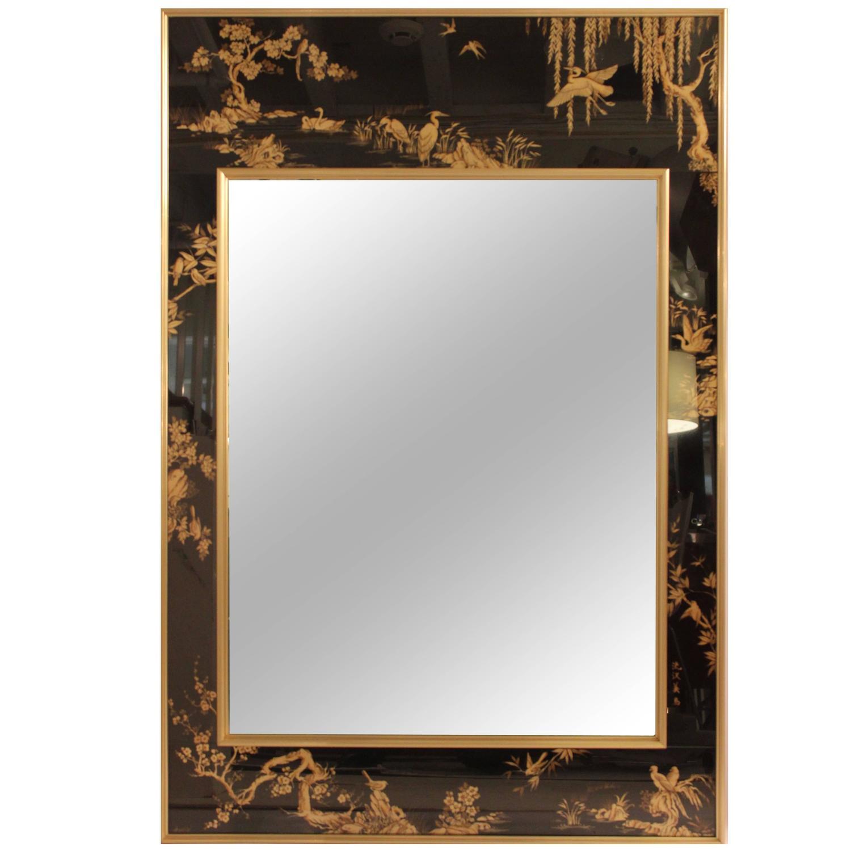 Labarge glomis beveled mirror at 1stdibs for Beveled mirror