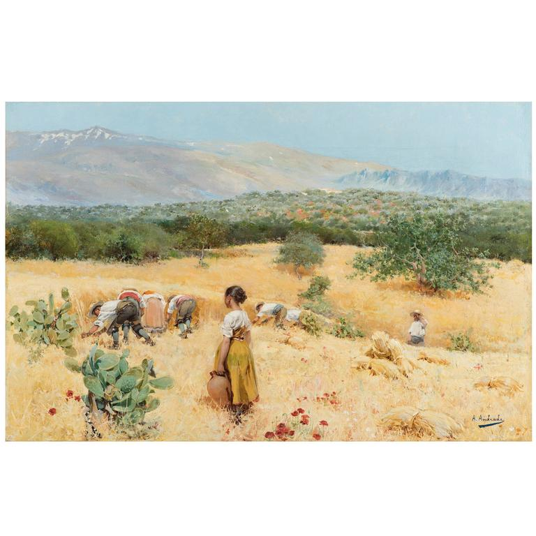 Harvest at the Foot of the Sierra Nevada in Andalusia