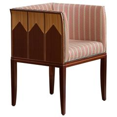 Armchair, Designed 1929 by Eliel Saarinen Mahogany, Walnut, Veneers
