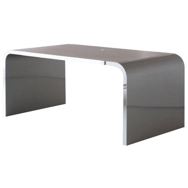 Executive Waterfall Metal Desk in Art Deco - Streamline Design, Germany, 2015