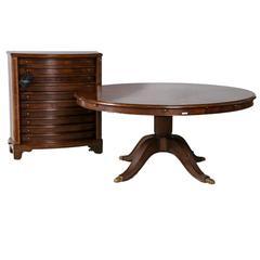 Monumental Circular Jonathan Charles Mahogany Dining Table