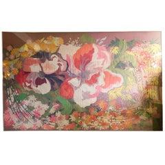 Gigantic Framed Mid-Century Cut Paper Collage