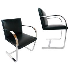Ludwig Mies van der Rohe Brno Chairs by Knoll, a Pair