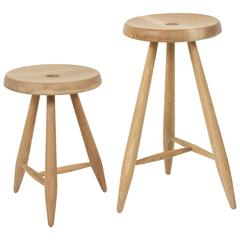 Sasaki White Oak Three Legged Stool