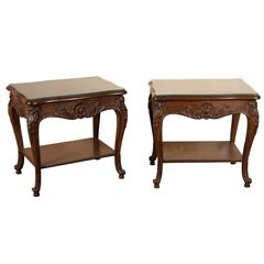 Pair of French Side Tables by Auffray Furniture