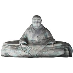 Wood and Gesso Sculpture of a Holy Man