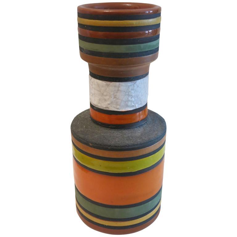 Ceramic Vase Signed Bitossi / Raymor, 1950s, Italy