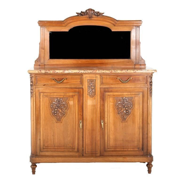 french walnut marble top server ccirca 1900 for sale at