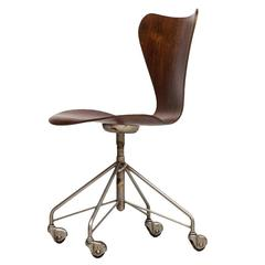 Arne Jacobsen Office Chair Model 3117 By Fritz Hansen In Denmark At 1stdibs