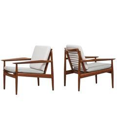 Arne Vodder Easy Chairs Produced by Glostrup Møbelfabrik in Denmark