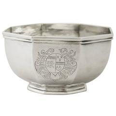 Britannia Standard Silver Bowl by James Rood, Antique Queen Anne