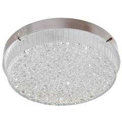 "Aluminum Flush Mount Fixture with ""Droplet"" Shade"