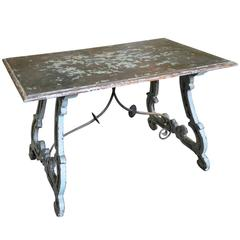 Spanish 19th Century Table in Painted Wood