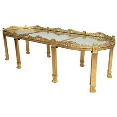 Large French Empire Style Napoleon III Gilt-Bronze Surtout-de-table Coffee Table