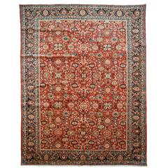 Antique Kashan Circa 1950 Rug For Sale At 1stdibs