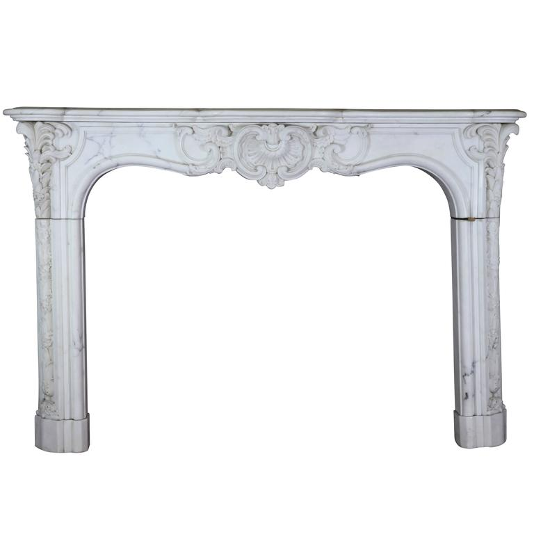 19th Century Original Empire Period Fireplace Mantel