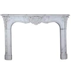 19th Century Original Empire Period Fireplace Mantel
