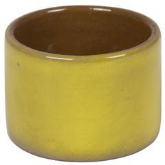 Yellow/Ochre Glazed Ceramic Bowl by Ruelland