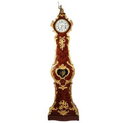 French 19th Century Regence Style Ormolu & Kingwood Grandfather Tall Case Clock