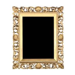 Antique Carved Giltwood Florentine Mirror