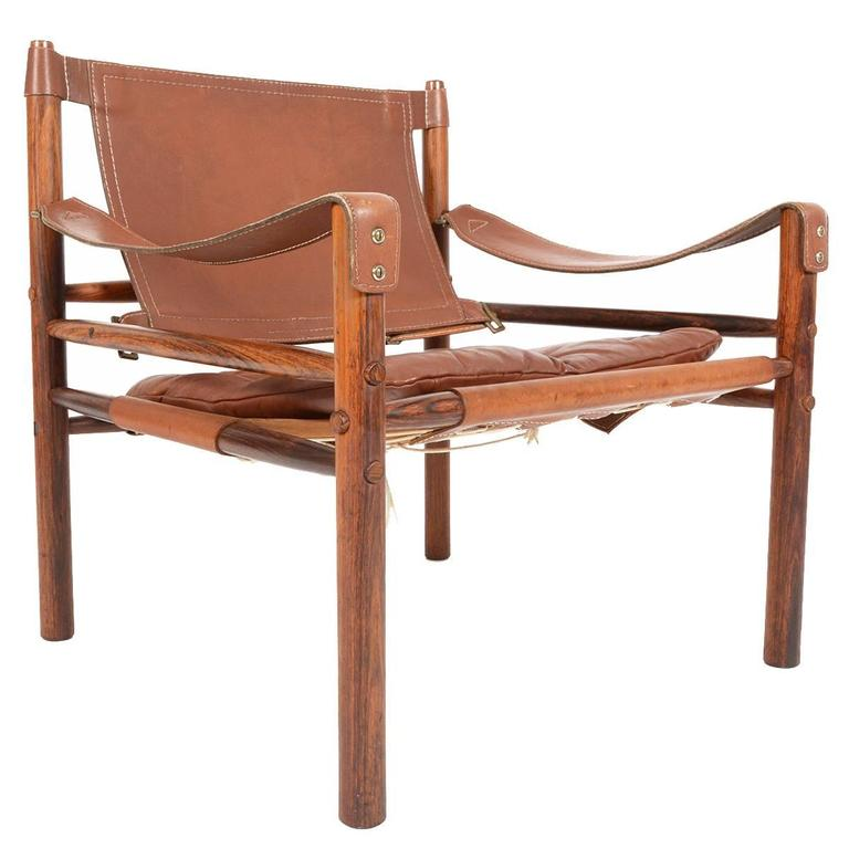 Srm Furnitures: Arne Norell Safari Chair In Rosewood And Leather At 1stdibs