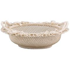 Belleek Four Strand Oval Basket