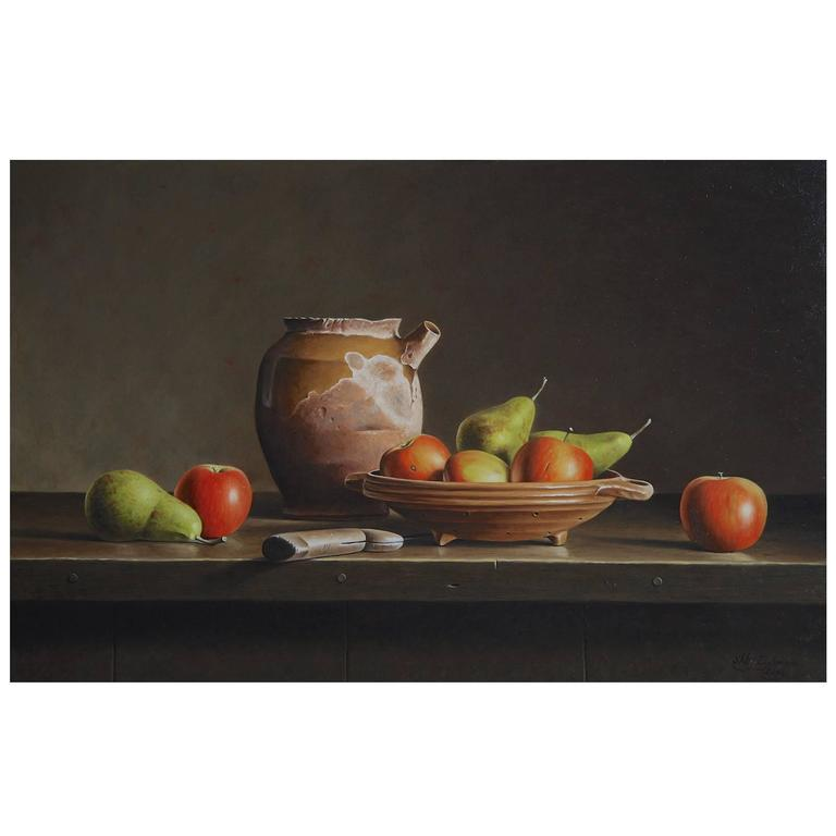 Still Life with Apples and Pears by Stefaan Eyckmans