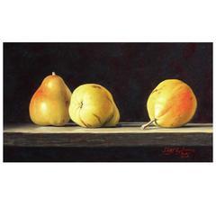 Three Pears Painting by Stefaan Eyckmans