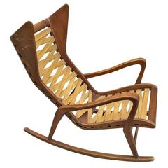 Rocking Chair by Gio Ponti, Manufactured by Cassina