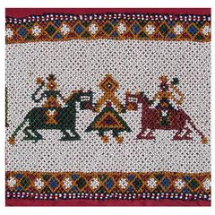 "Rare Old Beaded Band, Gujarat 'W. India, 9"" x 150"", 1920-1930, Free USA Shipping"
