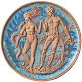 """Eve and Adam in Eden,"" Magnificent, Art Deco-WPA Sculptural Panel"