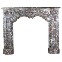20th Century Art Deco Fireplace Mantel in Belgian Marble