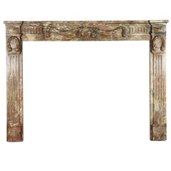 18th Century Empire Period Belgian Marble Fireplace Mantle
