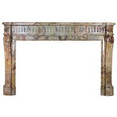 19th Century Original Louis XVI Style Marble Fireplace Mantel