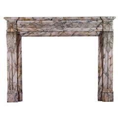 19th Century Louis XVI Style Marble Original Antique Fireplace Mantel