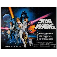 "Film Classic 1977 Star Wars Movie Poster by Chantrell ""7 Academy Awards"""