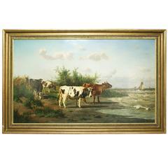 Coastal Landscape, Oil on Canvas